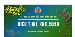 Full đầy đủ biểu thuế XNK năm 2020